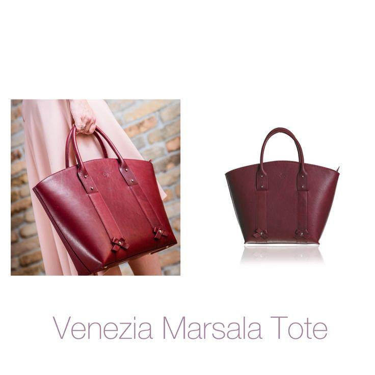 Handbags by Julia Stadinger Venezia Marsala leather Tote bag www.juliastadinger.hu