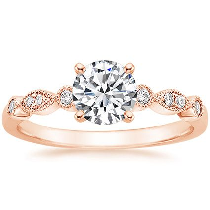 14K Rose Gold Tiara Diamond Ring from Brilliant Earth. My future ring. I already have my roommate on it ;)