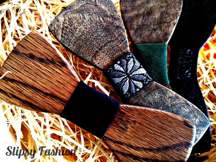 Slipsy Fashion Wooden Bow Ties With Changeable Fronts & magnetic Mount