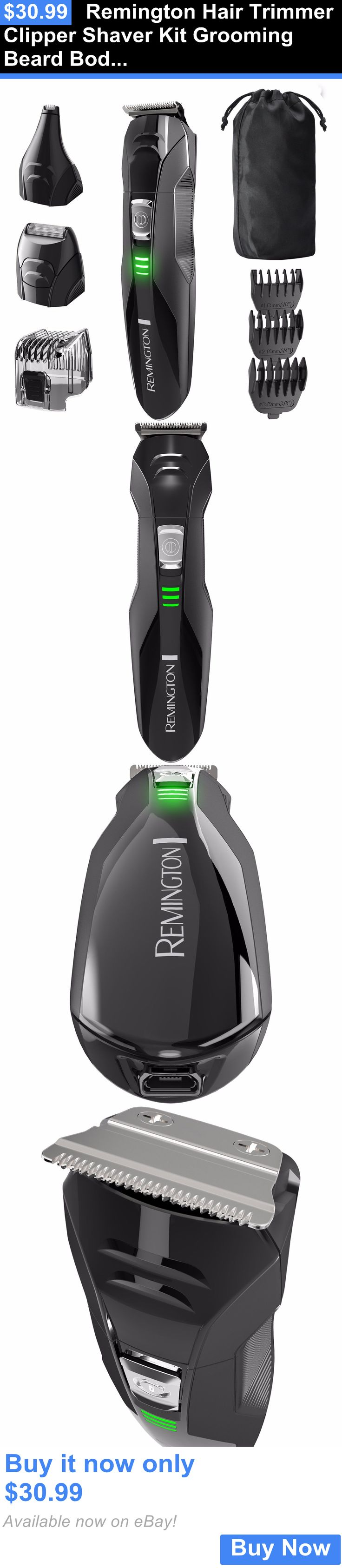 Shaving: Remington Hair Trimmer Clipper Shaver Kit Grooming Beard Body Head Rechargeable BUY IT NOW ONLY: $30.99