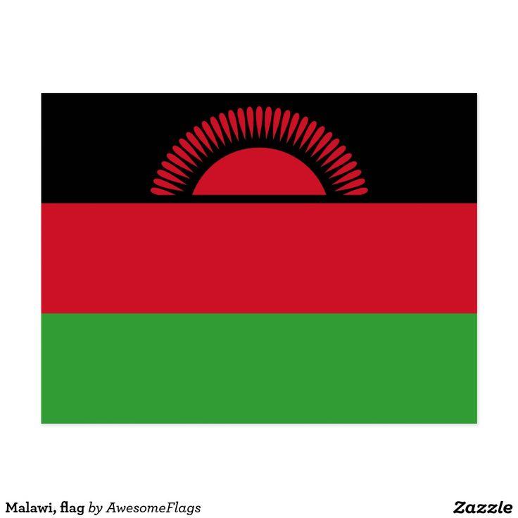 Malawi, flag postcard