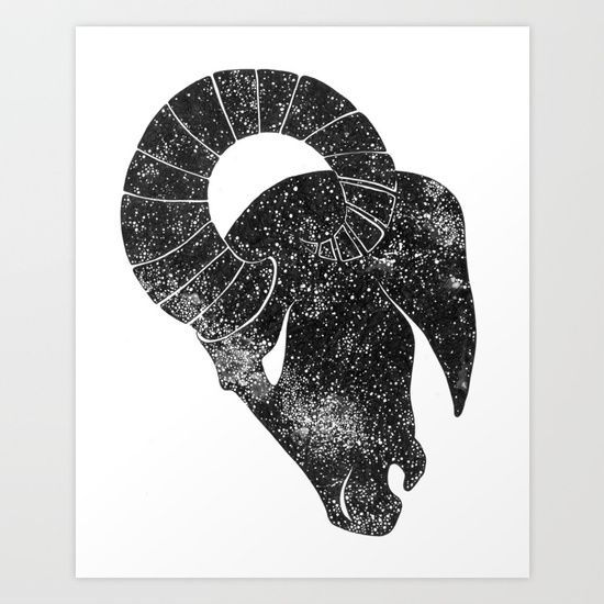 Aries by ECMazur. Collect your choice of gallery quality Giclée, or fine art prints custom trimmed by hand in a variety of sizes with a white border for framing. #art #aries #horoscope #zodiac