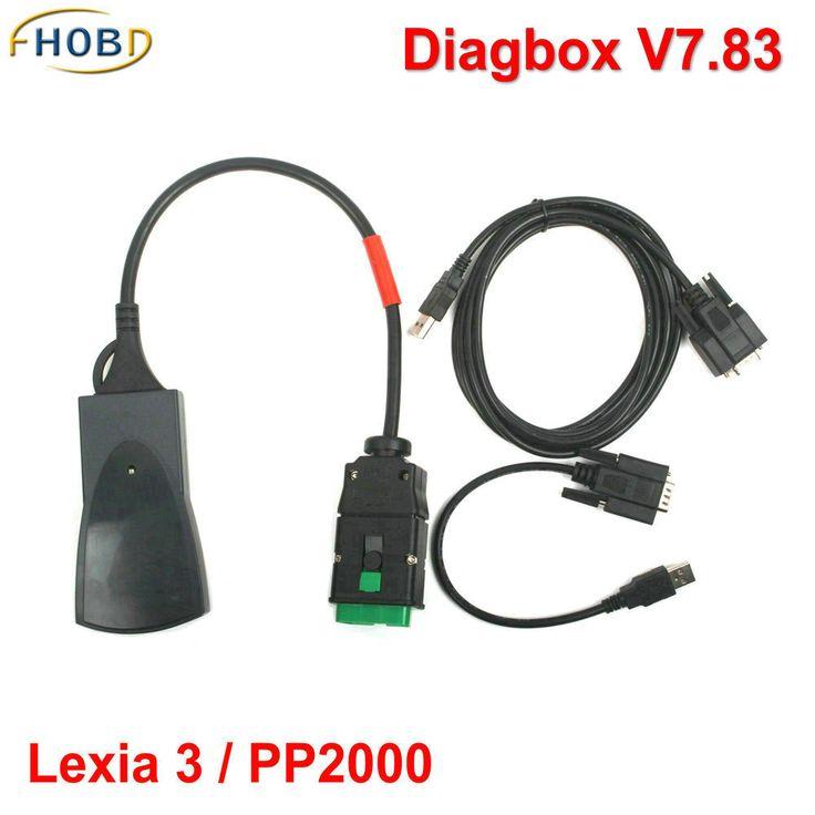 2015 Hot Sale más reciente V7.65 Lexia3 Lexia 3 V48 Citroen Peugeot herramienta de diagnóstico Lexia-3 PP2000 V25 con nueva Diagbox llegada