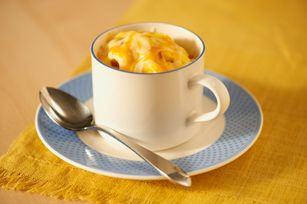 Microwave bacon and eggs in mug