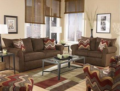 Exceptional Living Room Color Scheme Brown Furniture Part 31