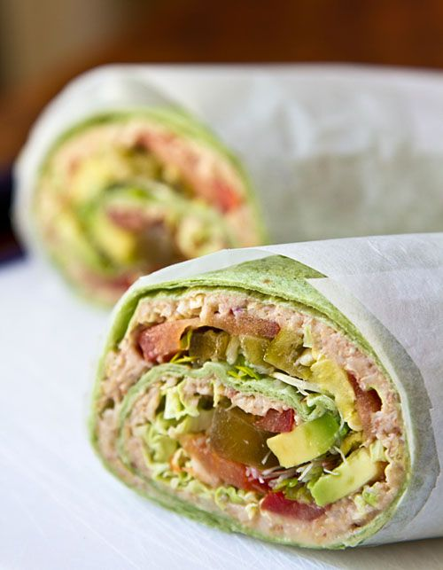 La Fuji Mama - Sandwich Wrap with Wheat Berry Spread—Whole Grains Get a Makeover