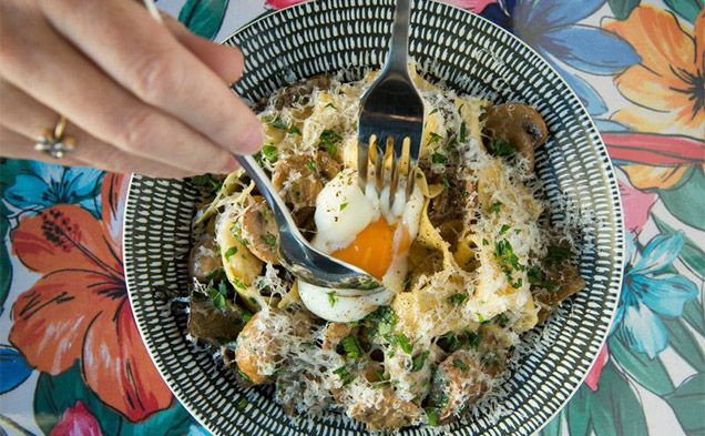 bach-eatery--egg-broken-mushrooms 399 King St, Newtown 2042 Telephone 02 8084 4093 Open Wed-Fri 5pm-late; Sat, Sun noon-late