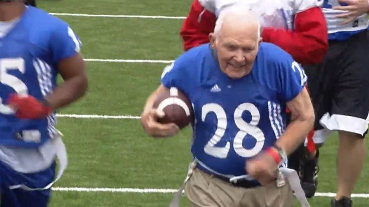 Former University of Kansas football player Brian Sperry still has some moves.