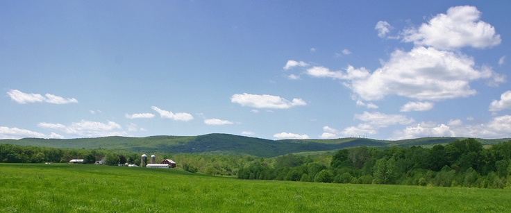 Farm near Frederick, Maryland with the Catoctin Mountains in the background.  Photo by Kai Hagen.