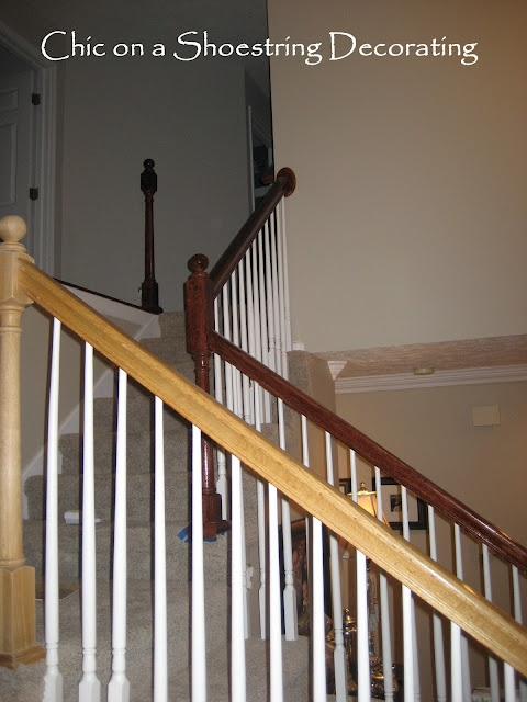 Best Refinishing My *Gly Oak Banister On A Budget House 640 x 480