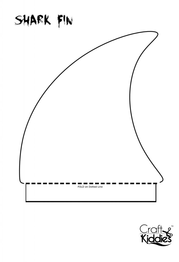 Shark Mask Template Or Hat