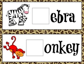 In this download you will find 10 Zoo themed vocabulary game cards with the beginning sound missing. Students will fill in the missing beginning sound using a dry erase marker or letter manipulatives.Before use print on cardstock, laminate and cut out cards.