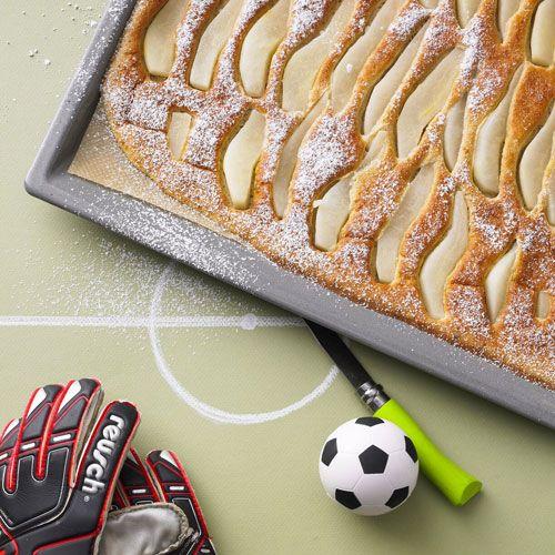 Pfannkuchen mit Birnen