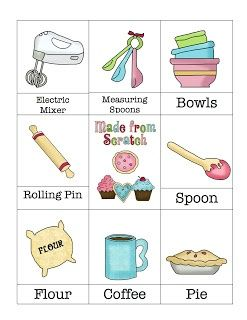 Cute cupcake ... can be used as vocab cards to introduce a baking writing assignment