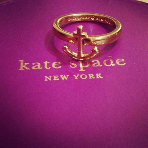 I LOVE this!: Anchor Rings, Spade Anchors, Clothing, Accessor, Anchors Rings, Sailors, White Gold, Kate Spade, Katespade