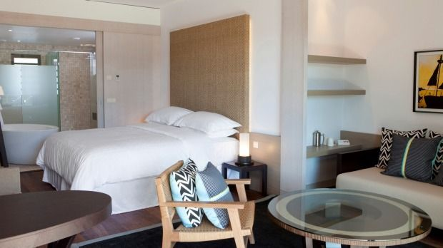 View of the room for the bungalows at the Sheraton Guoaro Deva Resort, New Caledonia - Another project from CHADA.