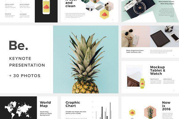 Be. Keynote Presentation + 30 Photos by PixaSquare on @creativemarket