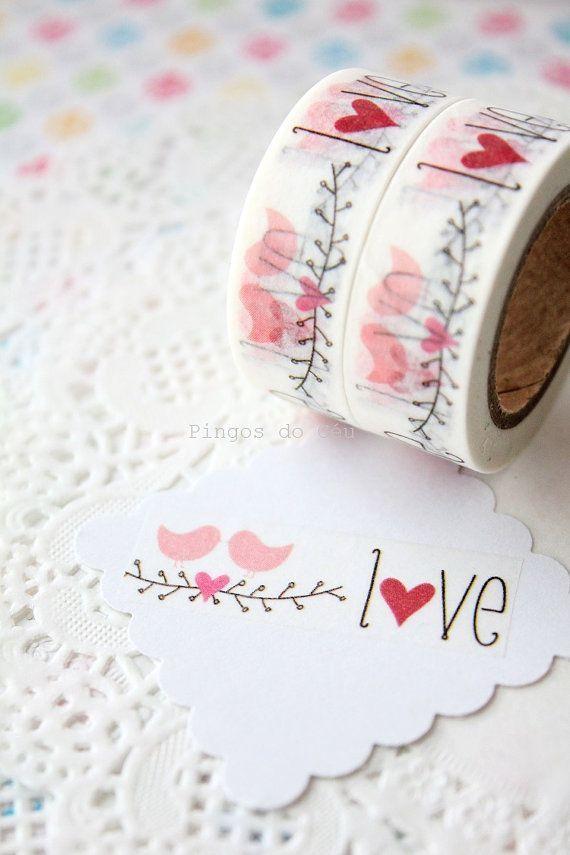 Love Washi Tape Scrapbooking Paper Goods Gift