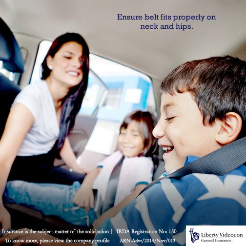 """Until your child is 13 years old or about 4'9"""" tall, they will need booster seats so that the belt fits properly at the neck and hips. #RoadTips"""