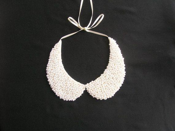 White peter pan collar necklace peter pan collar collar