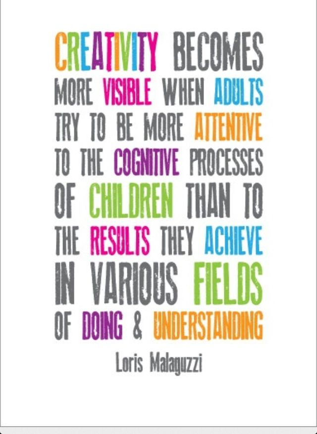 Loris Malaguzzi on creativity...