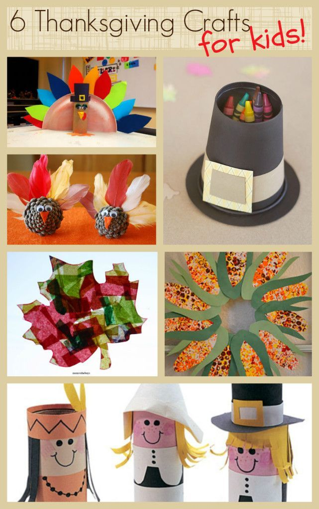With Thanksgiving right around the corner here are some craft ideas for the kids to keep them busy and happy!