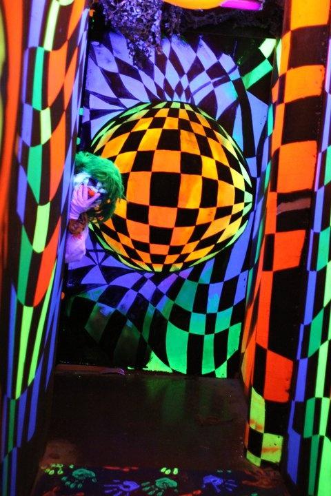 blacklight reactive decor for the inside