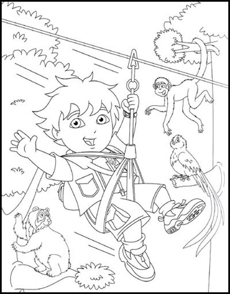 Go Diego Go Coloring Books Free Printable Diego Coloring ...