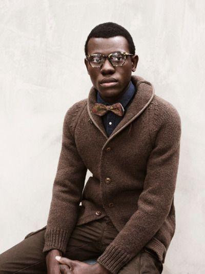 : Cardigans, Sweaters, Men Clothing, Bows Ties, Style, Men Fashion, Bowties, Brown Pants, Men Apparel