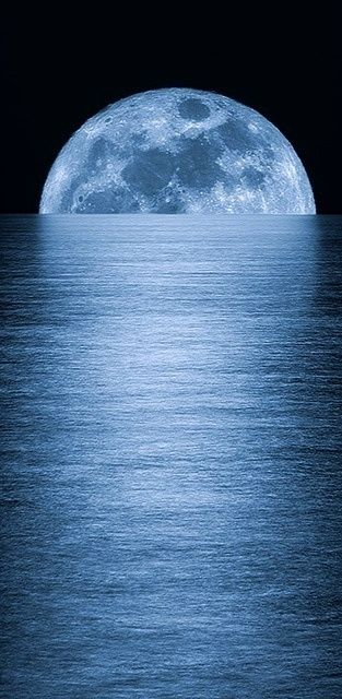 Full Moon Rising, ocean, photography effects, sea, reflection, moonlight, night… More                                                                                                                                                                                 More