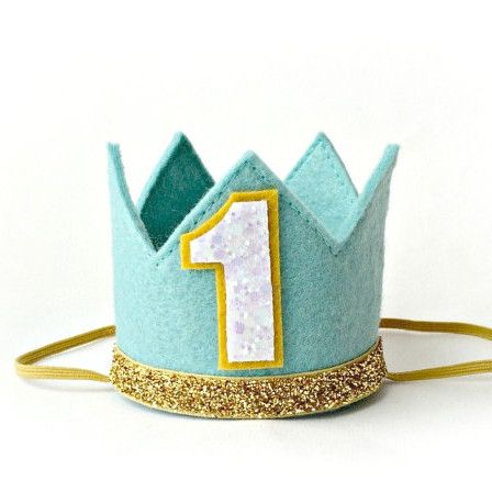 Birthday Crown, Blue First Birthday
