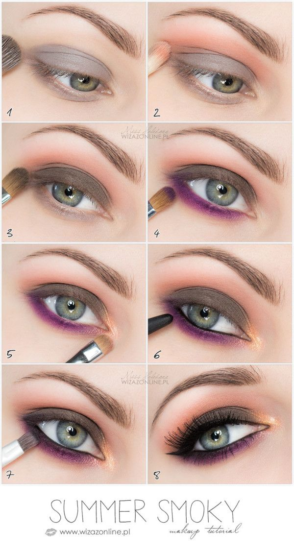Summer Smoky Eye step by step tutorial