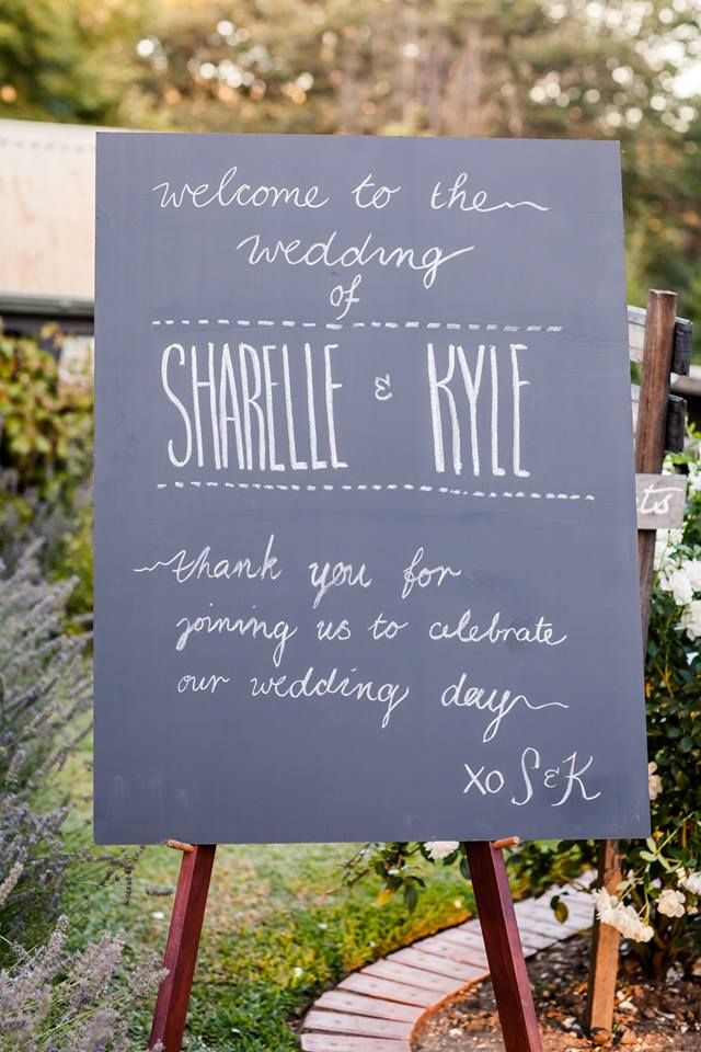 Blackboard for Sharelle & Kyle by Chateau Dore