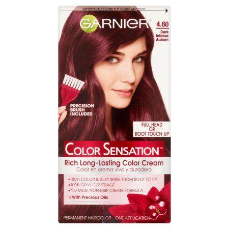 Garnier Color Sensation Permanent Hair Color, 4.60 Dark Intense Auburn, Brown
