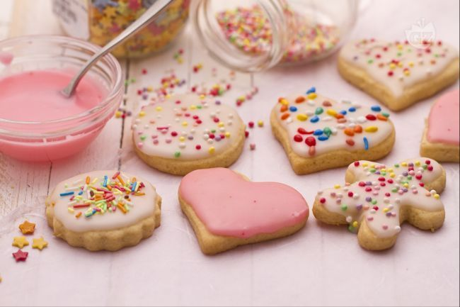 Biscotti semplici decorati