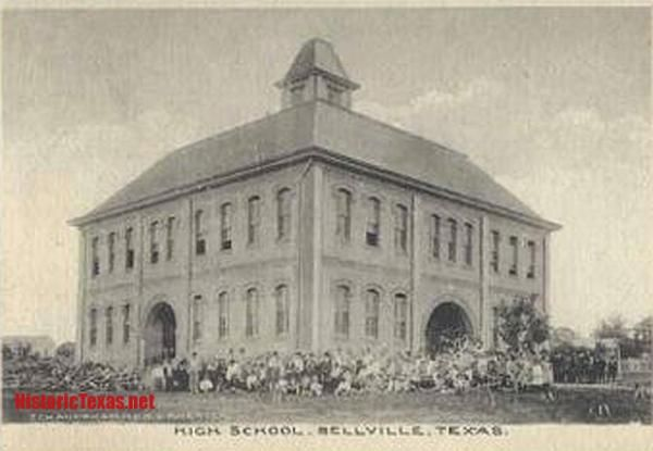 High School, Bellville, Texas early 1900s