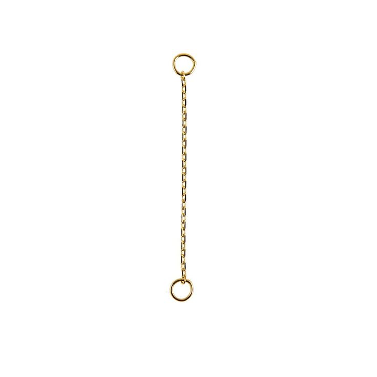 """métier by tomfoolery: 9ct gold 1"""" chain plaque"""