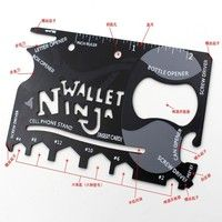 18 and 1 stainless steel card outdoor multi-function saber card universal tool Pocket wallet ninja s