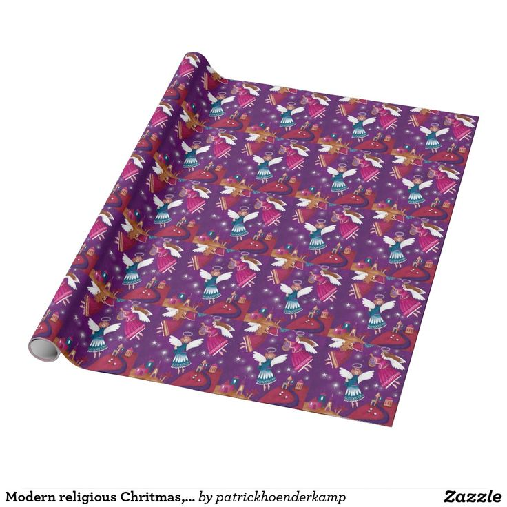 Modern religious Chritmas, three angels Wrapping Paper