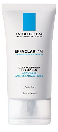 Enjoy shine-free skin all day with this daily moisturizer. Formulated with vitamins C and E, La Roche-Posay Effaclar Mat Daily Moisturizer for Oily Skin, formerly Effaclar M, tightens pores, reduces o