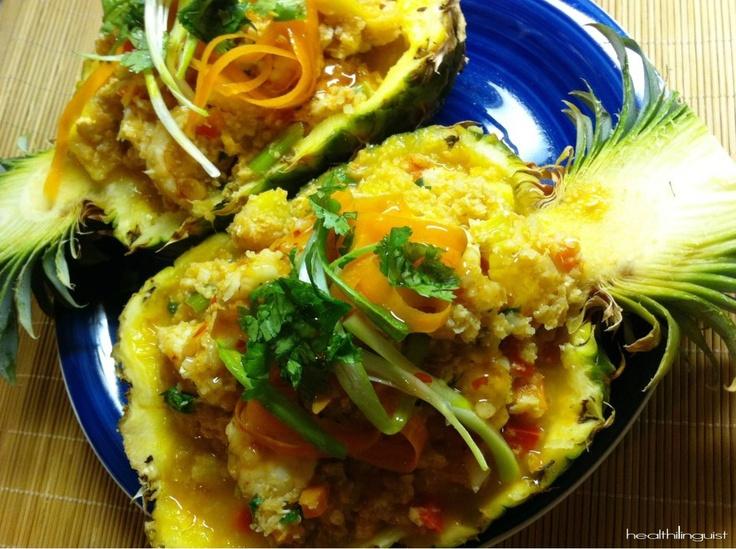 "Polynesian Shrimp Fried ""Rice""  @Healthi linguist"