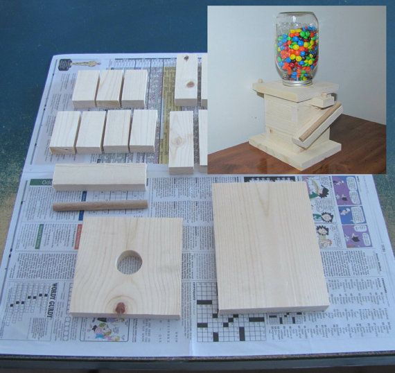 DIY houten Mason Jar Candy Dispenser Kit  Kids door CraftInnovation
