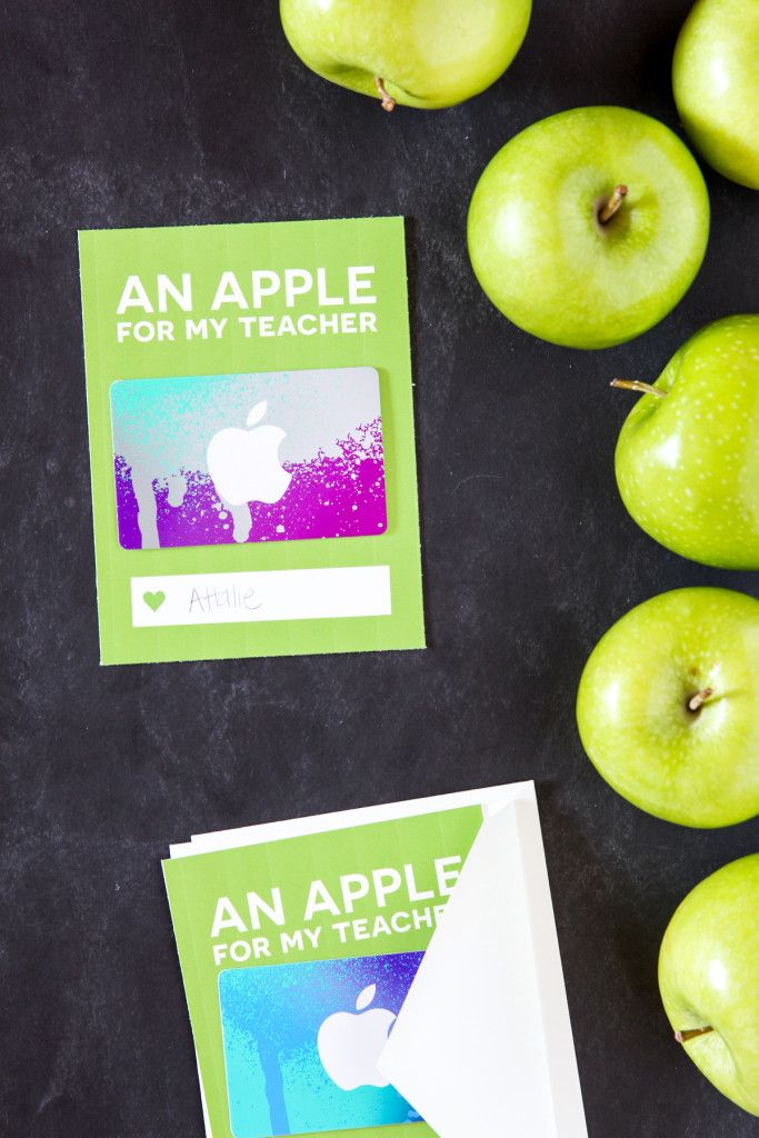 Love this card to dress up an iTunes Gift Card for Teacher Appreciation via @PagingSupermom with free printable card.