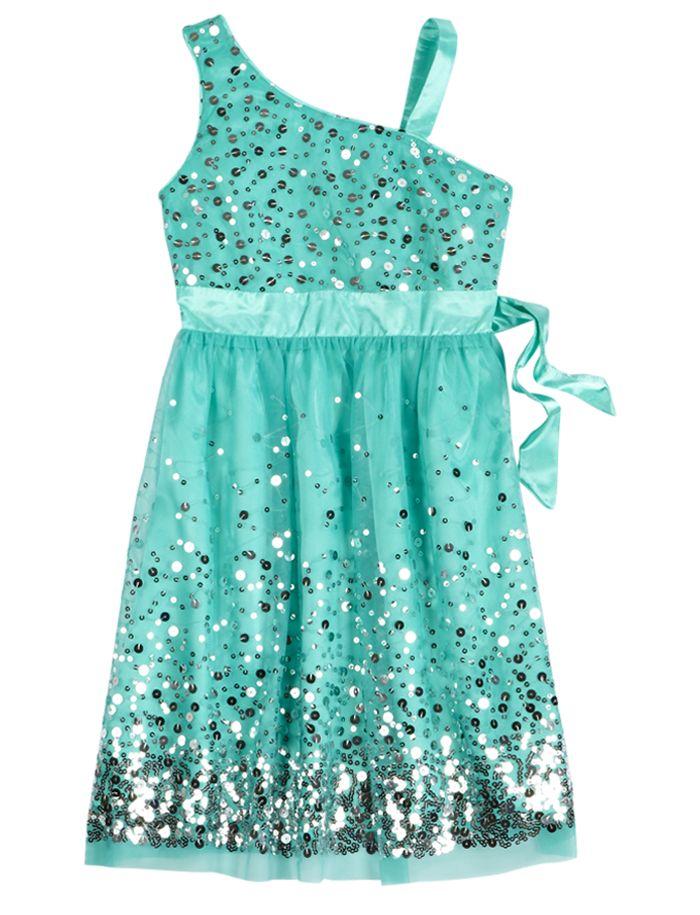 One Shoulder Sequin Party Dress | Dressy | Dresses | Shop Justice