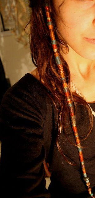Hair Jewelry RASTA hair wraps Made By your order. by ArtOfGoddess