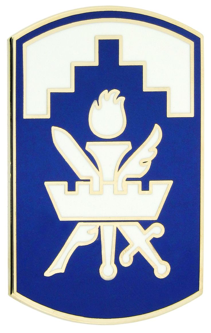 353RD CIVIL AFFAIRS COMMAND, COMBAT SERVICE IDENTIFICATION BADGE