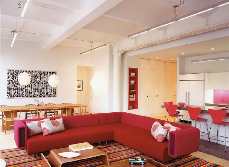 modern living room, great room - Tribeca Family Loft Projects Colorful, Cheerful Vibes - http://freshome.com/tribeca-family-loft/