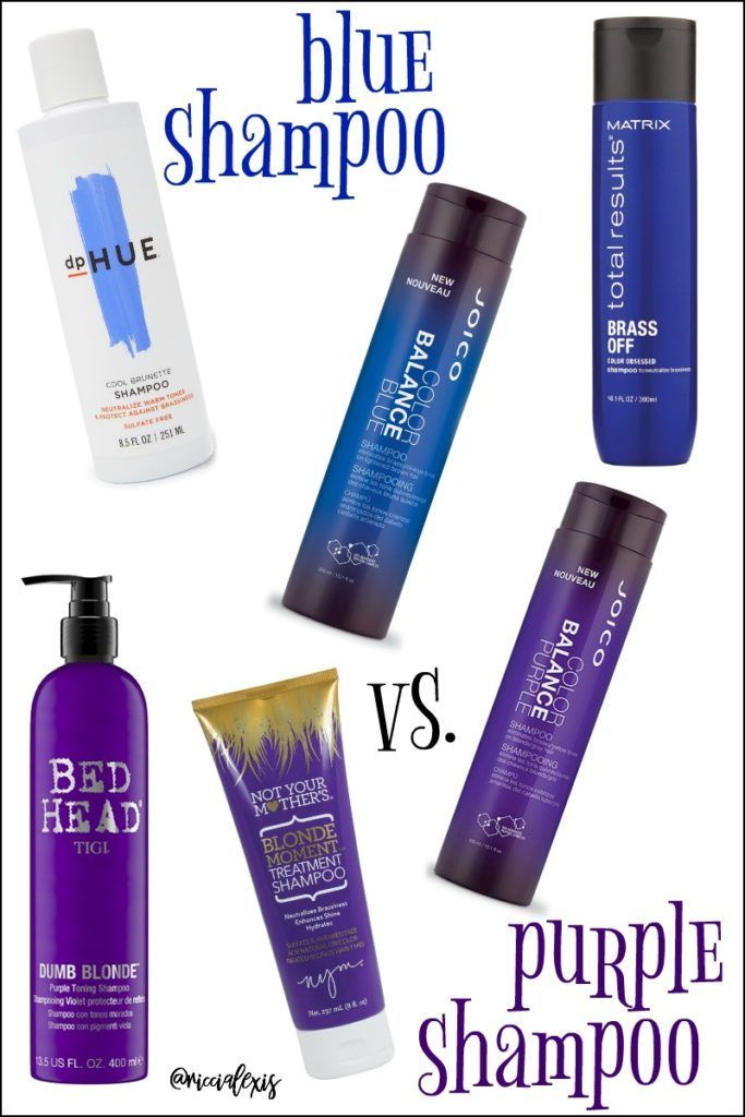 Blue Shampoo Vs Purple Shampoo Purple Shampoo Best Purple