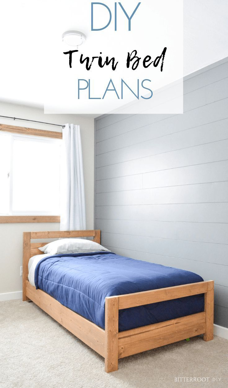 Diy Basic Twin Bed Diy Twin Bed Frame Kids Bed Frames Bed