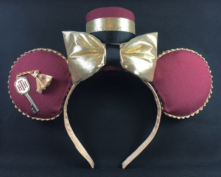 Hollywood Tower of Terror Inspired Mickey Ears Version 1. These ears are basically an amalgamation of ideas found here on Pinterest. I made them for my friend Denise, whose favorite ride is the Tower of Terror. My DIY Mickey Ears by NMazzie